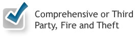 Comprehensive or Third Party, Fire and Theft